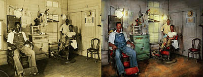 Photograph - Barber - Family Owned 1942 - Side By Side by Mike Savad
