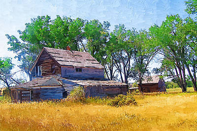 Art Print featuring the photograph Barber Homestead by Susan Kinney