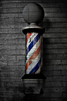Barber Pole Blues  Art Print by Jerry Cordeiro