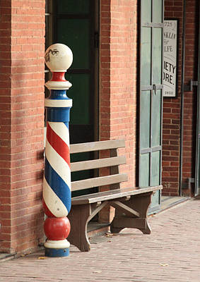 Lodes Photograph - Barber Pole Columbia Ca by Troy Montemayor