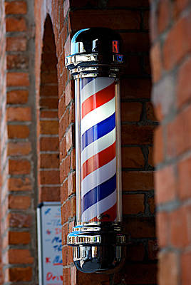 Kelowna Photograph - Barber Pole by Lisa Knechtel