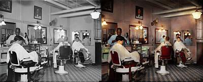 Barber - Senators-only Barbershop 1937 - Side By Side Art Print