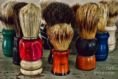 Paul Ward Wall Art - Photograph - Barber - Shaving Brush Collection by Paul Ward