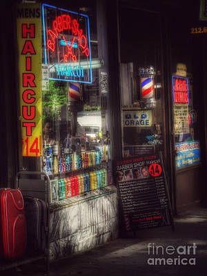 Photograph - Barber Shop - Haircut 14 Dollars by Miriam Danar