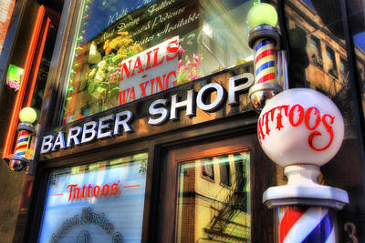 Photograph - Barber Shop - North End - Boston by Joann Vitali