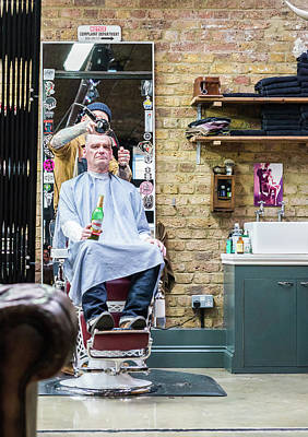 Photograph - Barber Shop With A Beer by Alexandre Rotenberg