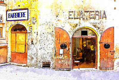 Painting - Barber Shops And Ice Cream Parlors by Giuseppe Cocco