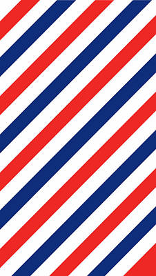 Patriotic Digital Art - Barber Stripes by Julia Jasiczak