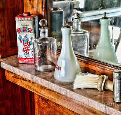 Barber - Talc And Toilet Water Art Print by Paul Ward