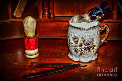 Barberchair Photograph - Barber Time For A Shave by Paul Ward