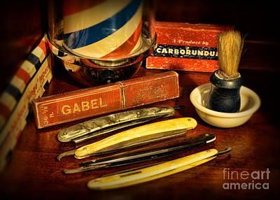 Barber - Vintage Barber Print by Paul Ward