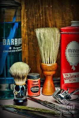Barber - Vintage Barbering Tools Art Print