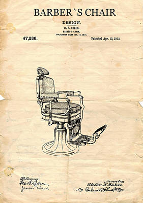 Lithography Digital Art - Barbers Chair 1915 by Art Dreams