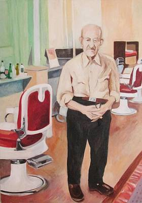 Painting - Barber's Father by Linda Novick