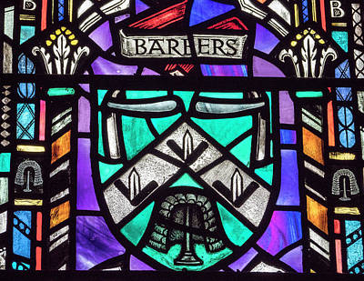 Photograph - Barbers Stained Glass by Jean Noren
