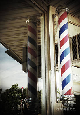 Photograph - Barbershop Pole by Leara Nicole Morris-Clark