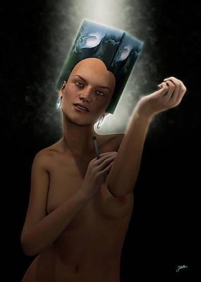 Digital Art - Barbie Turic At Night by Joaquin Abella