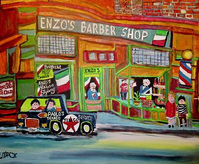 Painting - Barbiere Enzo Barber by Michael Litvack