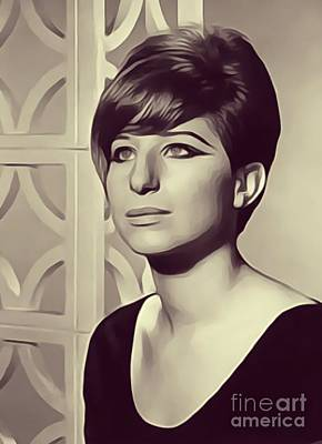 Musicians Royalty-Free and Rights-Managed Images - Barbra Streisand, Actress/Singer by John Springfield