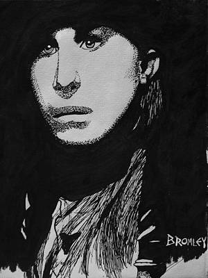 Drawing - Barbra Streisand by David Bromley