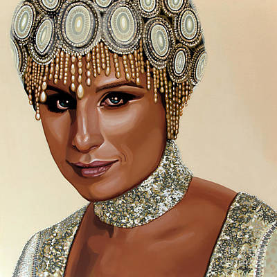 Painting - Barbra Streisand 2 by Paul Meijering
