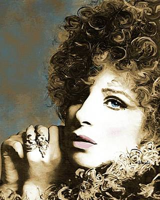 Streisand Painting - Barbra - What About Today by Carole Jacobs