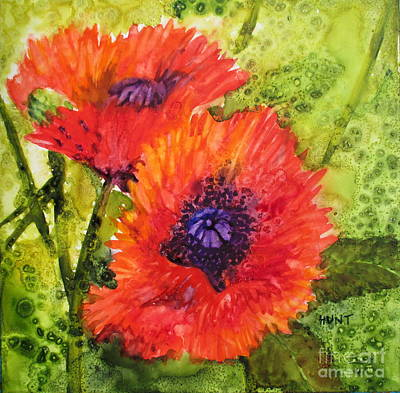 Painting - Barbs Poppies by Shirley Braithwaite Hunt