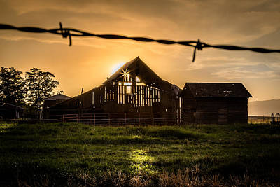 Photograph - Barbwire Barn by Brad Stinson