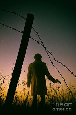 Barbwire Photograph - Barbwire Trespassing by Carlos Caetano
