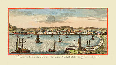 Photograph - Barcelona 1740 by Andrew Fare