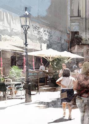 Cities Painting - Barcelona 56585858 by Jani Heinonen