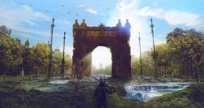 Steampunk Digital Art - Barcelona Aftermath Arc De Triomf by Guillem H Pongiluppi