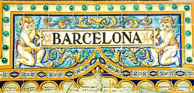 Photograph - Barcelona - Azulejo 2 by Andrea Mazzocchetti