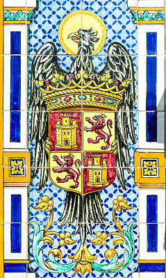 Featured Tapestry Designs - Barcelona - Azulejo 3 by AM FineArtPrints