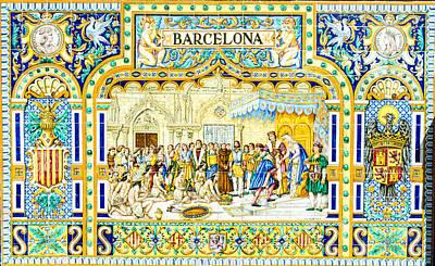 Photograph - Barcelona - Azulejo by Andrea Mazzocchetti