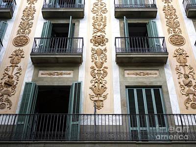 Photograph - Barcelona Balcony Design by John Rizzuto
