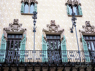 Photograph - Barcelona Balcony Patterns by John Rizzuto