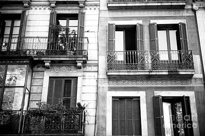 Photograph - Barcelona Balcony View by John Rizzuto