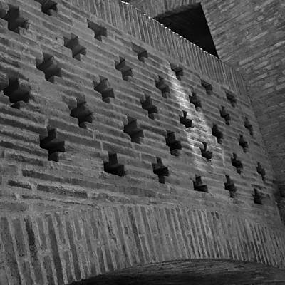 Photograph - Barcelona Brick Wall by Toby McGuire