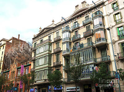 Photograph - Barcelona Building Style by John Rizzuto