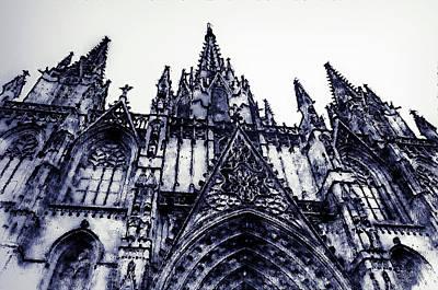 Digital Art - Barcelona, Cathedral - 01 by Andrea Mazzocchetti