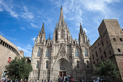 Medieval Temple Photograph - Barcelona Cathedral In Spain by Artur Bogacki