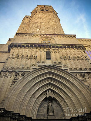 Photograph - Barcelona Cathedral - Porta De Sant Iu by Colleen Kammerer