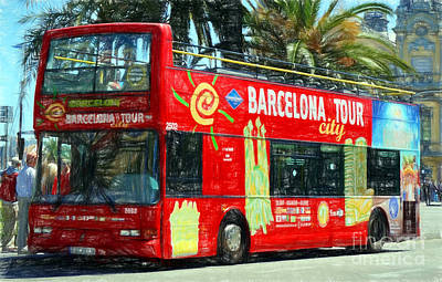 Photograph - Barcelona City Tour by Sue Melvin