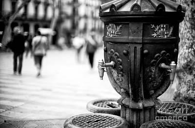 Photograph - Barcelona Drinking Fountain by John Rizzuto