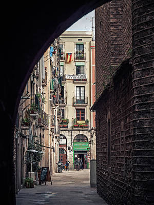 Street Photograph - Barcelona - El Born by Alexander Voss