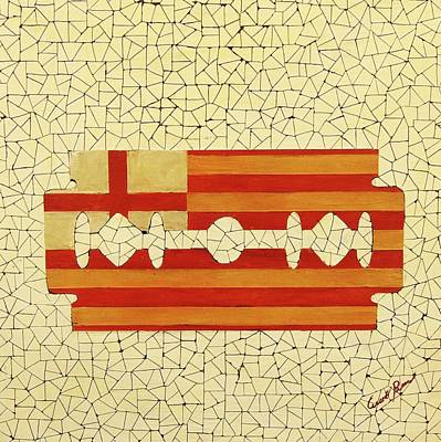 Popart Painting - Barcelona by Emil Bodourov