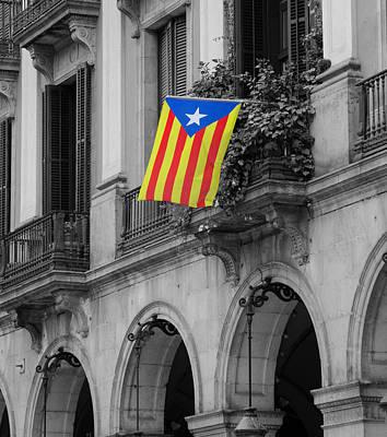 Photograph - Barcelona - Estelada by Andrea Mazzocchetti