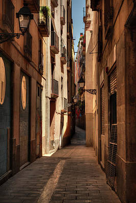 Gas Lamp Quarter Photograph - Barcelona - Gothic Quarter 004 by Lance Vaughn