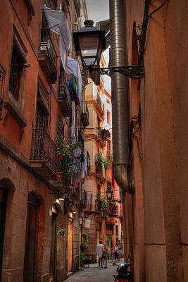 Gas Lamp Quarter Photograph - Barcelona - Gothic Quarter 002 by Lance Vaughn